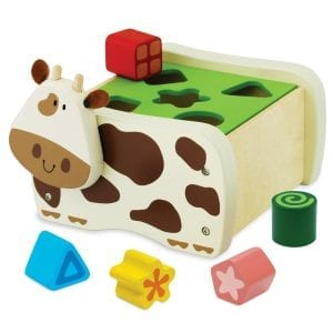 An educational toy designed to teach children about, colors, shapes and patterns.