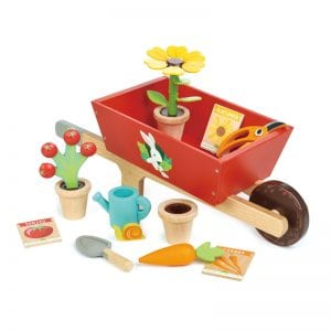 Pretend PLay, outdoor play, play garden, wooden toys