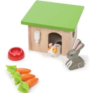 Teach your child about the value of caring for pets with this bunny and Guinea Pig set