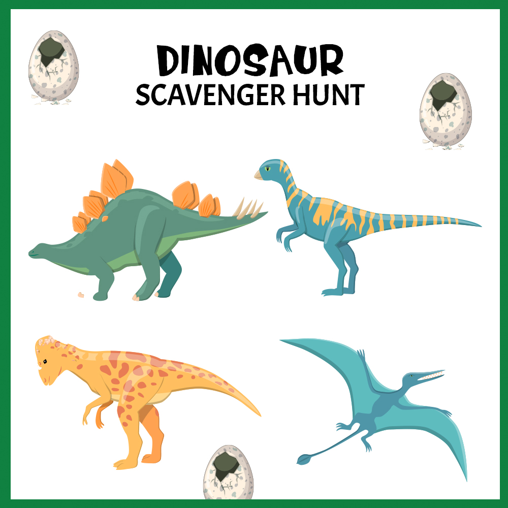 Indoor dinosaur Scavenger Hunt