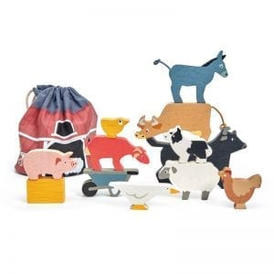 TL8480 - Stacking Farmyard Animals with Bag