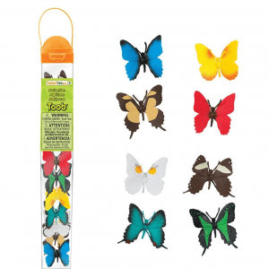 This Toob is a perfect gift for butterfly collectors young and old! It features 8 of the world's most beautiful butterflies