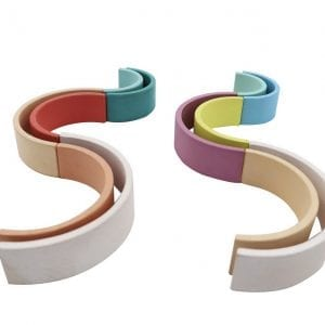 CALM & BREEZY WOODEN STACKING RAINBOW