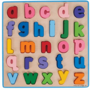 New Bigjigs Toys - Chunky Alphabet Puzzle Lowercase Chunky Alphabet Puzzle Lowercase