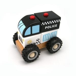 Wooden Block Police Car