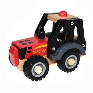 WOODEN RED TRACTOR